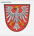 emblem frankfurt am main vector image