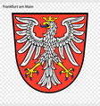 emblem of frankfurt am main vector image