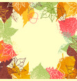 fall leaves background frame for text vector image vector image