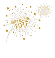 Firework with Happy new year 2017 vector image vector image