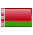 Flags Belarus in the form of a magnet on vector image vector image