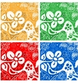 Four flowers backgrounds vector image vector image