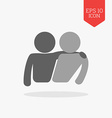 Friends icon Flat design gray color symbol Modern vector image vector image