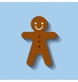 ginger cookie sweet christmas vector image
