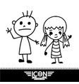hand drawn kid vector image