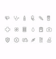 health bold line icons medicine health care vector image