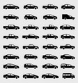 icons car set vector image vector image