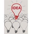 idea light bulb concept creative design vector image