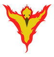 isolated phoenix icon vector image vector image