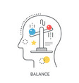 life balance concept vector image vector image