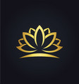 lotus flower beauty gold logo vector image vector image