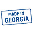 made in georgia blue square isolated stamp vector image vector image