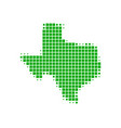 map of texas vector image vector image