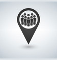 meeting point location icon friends neardrop vector image vector image