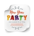 New Year party poster template on white vector image vector image