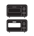 oven icon flat sign vector image vector image
