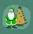 paper sticker on stylish background christmas vector image vector image