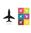 Plane icon or airplane symbol vector image