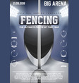 Poster Template of Fencing vector image vector image