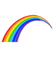 rainbow on a white background vector image vector image