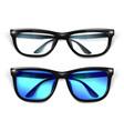realistic eyeglasses sunglasses mockup vector image vector image