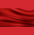 red wavy luxury fabric background smooth shapes