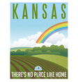 Retro travel poster Kansas vector image vector image