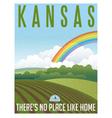 Retro travel poster Kansas vector image