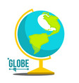 school globe icon geography earth sphere vector image vector image