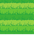 Seamless vegetation background Green grass vector image vector image