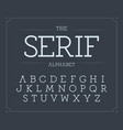 serif letters set modern latin alphabet vector image vector image