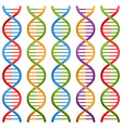 Set of DNA symbols for science and medicine design vector image