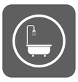 Shower Bath Flat Squared Icon vector image