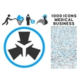Shrink Arrows Icon with 1000 Medical Business vector image vector image