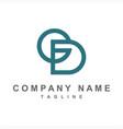 simple gd cd ed initials company logo vector image vector image