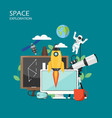 space exploration flat style design vector image