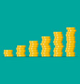 stacks gold coins vector image vector image