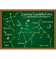 Summer Constellations on chalkboard vector image