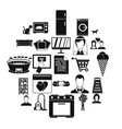 sup icons set simple style vector image vector image