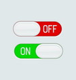 toggle switch buttons on and off 3d icons vector image