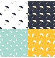 Umbrella seamless patterns set in modern clean and vector image