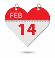 valentine calendar vector image vector image