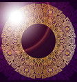 vintage background with golden mandala oriental vector image
