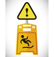 Warning sign design vector image