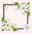 white lilies bouquet elements in sketch style at vector image vector image