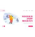 winter season fun and outdoor leisure website vector image vector image