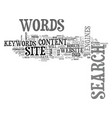 words are the keys to your website s success text vector image vector image