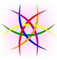 logo of the lgbt community lgbt flag vector image