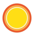 Colorful Sun icon design element vector image