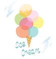 Ice cream retro design card - vector image